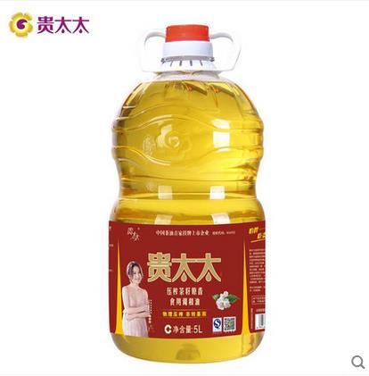 贵太太 压榨茶籽原香食用调和油 5L调和油