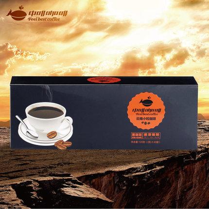 中啡纯速溶黑咖啡粉 无糖无奶40袋云南小粒咖啡