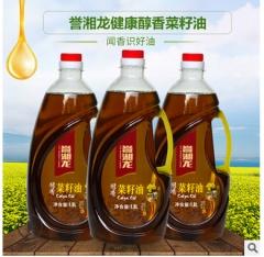 誉湘龙醇香菜籽油1.8L桶装非转基因菜籽油