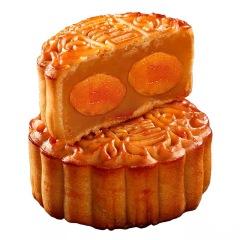 皇冠世家双黄白莲味月饼礼盒装4个