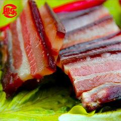 湖北恩施特产思乐土猪腊肉 柴火烟熏腊肉 五花腊肉 烟熏肉500g